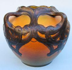 3 Handle Art Nouveau Karen Hagen Vase Ipsen Pottery Denmark   eBay