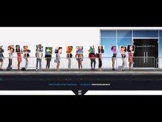 Samsung Galaxy S4: The Smart Phone Line - YouTube Lucky Lineみたい 実際に行列アバターたちをプロジェクションマッピング 最後の特典がイマイチ