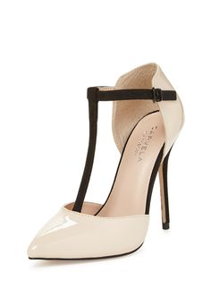 Laina T-Strap Pump from Shop by Heel Height: High Heels on Gilt