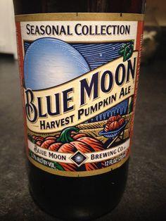 Blue Moon Harvest Pumpkin Ale!