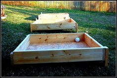 Raised beds on slope
