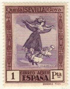 1930 Spain Stamp about artist #Goya. More about stamps: http://sammler.com/stamps/
