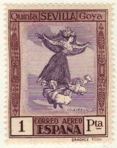 1930 Spain Stamp about artist #Goya. More about stamps: http://sammler.com/stamps/