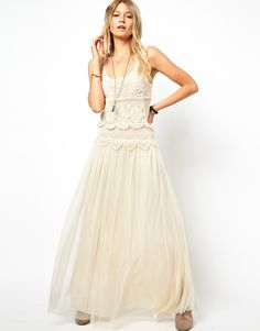I need this dress! Pretty boho chic lace and sweet tulle frock. Just lovely!