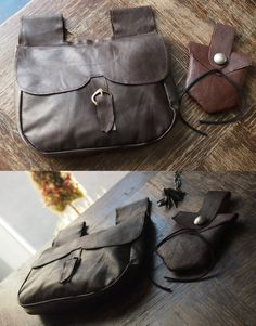 The Witcher Ciri cosplay accesories: leather armlets, belt, sword belt, bags