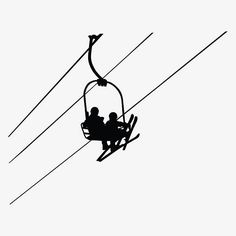 Discover recipes, home ideas, style inspiration and other ideas to try. Skiing Tattoo, Minimalist Drawing, Minimalist Design, Shadow Photos, Ski Lift, Wall Decal Sticker, Winter Scenes, Wall Colors, Easy Drawings