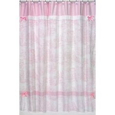 Pink Toile Shower Curtain