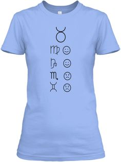 Taurus Love Tees Light Light Blue T-Shirt Front