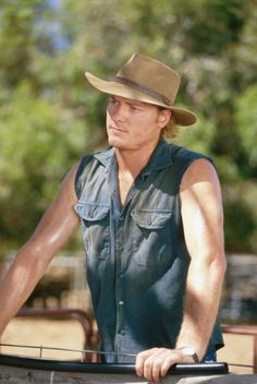 Myles Pollard - Nick Ryan on McLeods Daughters. Great tv, show. hat, arms, macho, gorgeous, photo