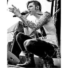 Andy Biersack Bands ❤ liked on Polyvore featuring accessories and hair accessories