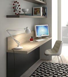 Resultado de imagen de dormitorio juvenil mesa estudio esquina