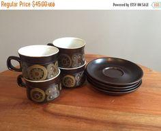 Lovely 6 X Denby Mayflower Tea Cups Pottery & Glass Aesthetic Appearance