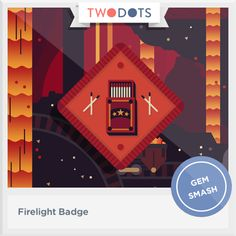 l sparked a match at night and earned my Firelight Badge! playtwo.do/ts #twodots