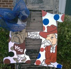 House Divided Ole Miss / MSU by DeepSouthernheART on Etsy, $45.00