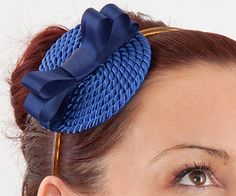 Fascinator DIY Tutorial: Hat-Headband Made Of Satin Ribbon And Cord