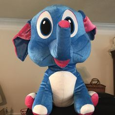 "Classic Toy Co. Jumbo Plush Elephant 23"" Height Stuffed Animal Toy Blue 2016 #ClassicToyCo"
