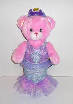 Build a Bear Disney Princess Plush Pink Teddy Bear Mermaid Dress #BuildaBear #disneyprincess #ariel