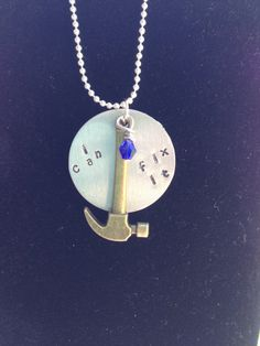 Disney/ Pixar Fix it Felix Jr. from Wreck it Ralph Inspired Hand Stamped Charm Necklace $18.00 USD