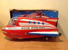 Masudaya Moon Explorer. Battery Operated toy from 60s/ebay