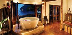 This tub is only one of many reasons I need to go here: Rayavadee  214 Moo 2, Tambon Ao-Nang, Amphur Muang, Krabi, Thailand