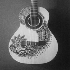 Sharpie guitar. Whenever I need a new guitar, I'll be tempted to draw on it.