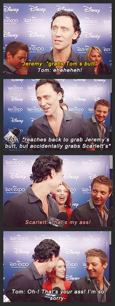 He is so Loki… Hahaha it's funny bc I've seen quotes from this interview, but never this moment lol!!!