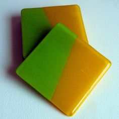 FUSED GLASS COASTERS  Handmade Contemporary by AjMcKeeFusedGlass, $38.00