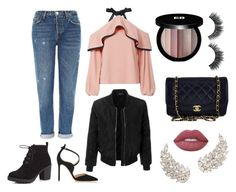 """""""Casually Girly"""" by ruama-haine on Polyvore featuring moda, Topshop, Alexis, LE3NO, Red Herring, Gianvito Rossi, Chanel, Edward Bess e Lime Crime"""