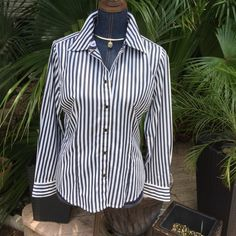 Beautiful Jones New York Blouse so beautiful black and white striped classy blouse!!!! Super condition and ready for a new posher girl!!! Jones New York Tops Blouses