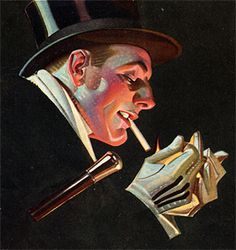 J.C. Leyendecker, Fatima Cigarettes illustration art. Leyendecker's stylization and lighting are a constant source of inspiration.