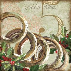 Five Golden Rings Christmas Clipart, Christmas Images, Christmas Carol, Christmas Themes, Christmas Crafts, Christmas Decorations, Christmas Ornaments, Christmas Applique, Five Golden Rings