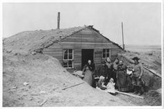 Mead family dugout in Ford County, Kansas - circa 1875-1879 (this could be similar to the Miller family home, dugout in Hamilton County).