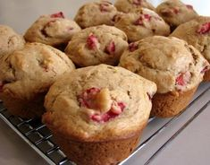Strawberry Bananna Muffins