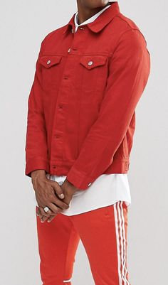 On my wish list :  Weekday Single Denim Jacket Love Red from ASOS #ad #men #fashion #shopping #outfit #inspiration #style #streetstyle  #fall #winter #spring #summer #clothes #accessories