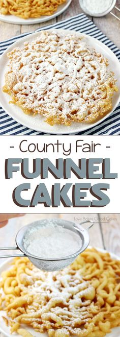 Homemade Funnel Cake ~ no need to wait for the county fair…this easy-to-make recipe can be enjoyed in just a few minutes! Homemade Funnel Cake ~ no need to wait for the county fair…this easy-to-make recipe can be enjoyed in just a few minutes! Food Cakes, Donut Cakes, Homemade Funnel Cake, Funnel Cake Recipe Easy, Pancake Batter Funnel Cake Recipe, County Fair Funnel Cake Recipe, Carnival Funnel Cake Recipe, Corndog Batter Recipe, Homemade Doughnut Recipe