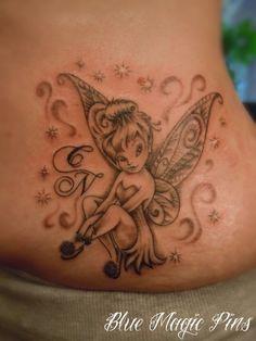 Tinkerbell Tattoo by ravenwarlock on DeviantArt Hand Tattoos, Cancer Tattoos, Time Tattoos, Sleeve Tattoos, Cross Tattoos, Tattoo Tinkerbell, Fairies Tattoo, Tinkerbell Disney, Disney Tattoos