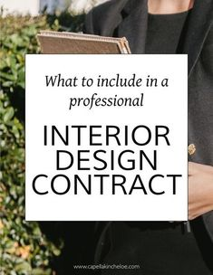 Your interior design contract is the singular most important document in your interior design business. It needs to protect your business and your clients making sure that they're aware of exactly what they're getting in return for their investment. Interior Design Business Plan, Interior Design Classes, Online Interior Design Services, Business Design, Home Interior Design, Interior Decorating, Decorating Tips, Business Ideas, Business Planning