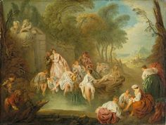 Bathing Party in a Park, c.1730s, by Jean-Baptiste Pater, The Wallace Collection
