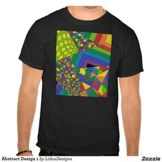 Abstract Design 1 Men's Basic Dark T-Shirt #cool #abstract #colourful #colour #art #geometric #illustration #unique #custom #original #creative #design #tshirts