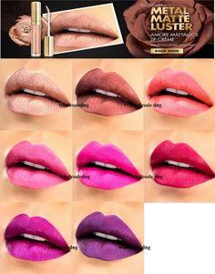 Milani Amore Metallics Matte Luster Liquid Lip Creme mattallics USA FREE GLOBAL