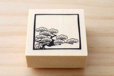 Rubber stamp  Japanese pine design stamp par karaku sur Etsy, ¥650