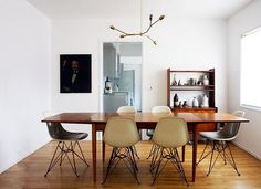 really like this ceiling-light and the teak table