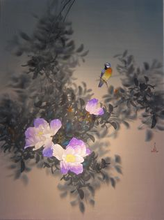 Art painting wonderful style floral nature by David Lee China He works with a special blend of Chinese watercolor on silk, raw, imported from China. Chinese use of gunpowder, mixed with water, it creates a subtle color Chinese Painting, Chinese Art, Floral Artwork, Dream Art, Botanical Art, Watercolor Art, Watercolour Paintings, Creative Inspiration, Animals And Pets