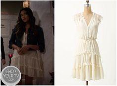 Shop Your Tv: Pretty Little Liars: Season 3 Episode 18 Emily's White Ruffle Dress Pretty Little Liars Seasons, White Ruffle Dress, Fashion Tv, Season 3, Queen, Clothes, Shopping, Dresses, Style
