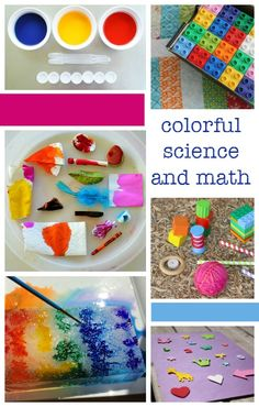 colorful science and math activities - resources for hands-on, creative STEM science and math