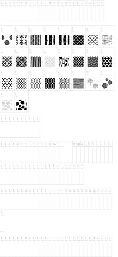 cool new font -- Peoni Patterns by Emily Lime Design