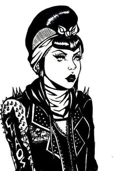 Psychobilly. Make capped sleeves seperate With spikes.
