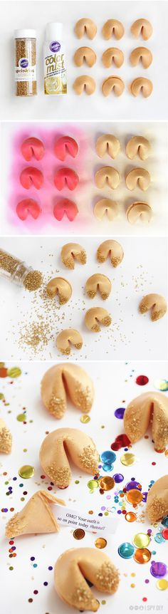 MY DIY | Gold Glitter Fortune Cookie | I SPY DIY