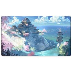 "NEW : L5R Playmat [Crane clan] : ""The Esteemed Palace"". The Crane excel at many things. One among them is the gift of finding beauty and exploiting it for political advantage."