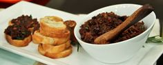 Olive & Fig Tapenade   Steven and Chris   Recipe adapted from David Lebovitz Makes 1 cup 1/2 cup Black Mission figs, stemmed and quartered 1 cup kalamata olives, rinsed and pitted 2 tbsp fresh lemon juice 1 tbsp Dijon mustard 1 clove garlic 2 tsp each fresh basil...